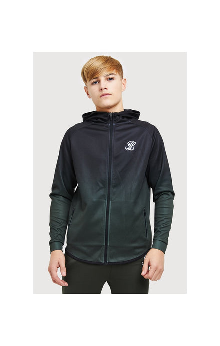 Illusive London Fade Athlete Zip Through Poly – Black & Khaki