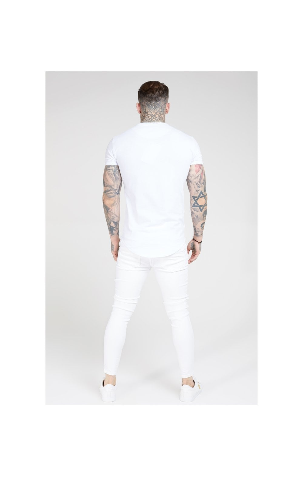 Load image into Gallery viewer, SikSilk Skinny Distressed Denim – White (6)