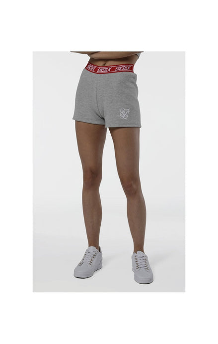 SikSilk Gym Shorts - Grey Marl