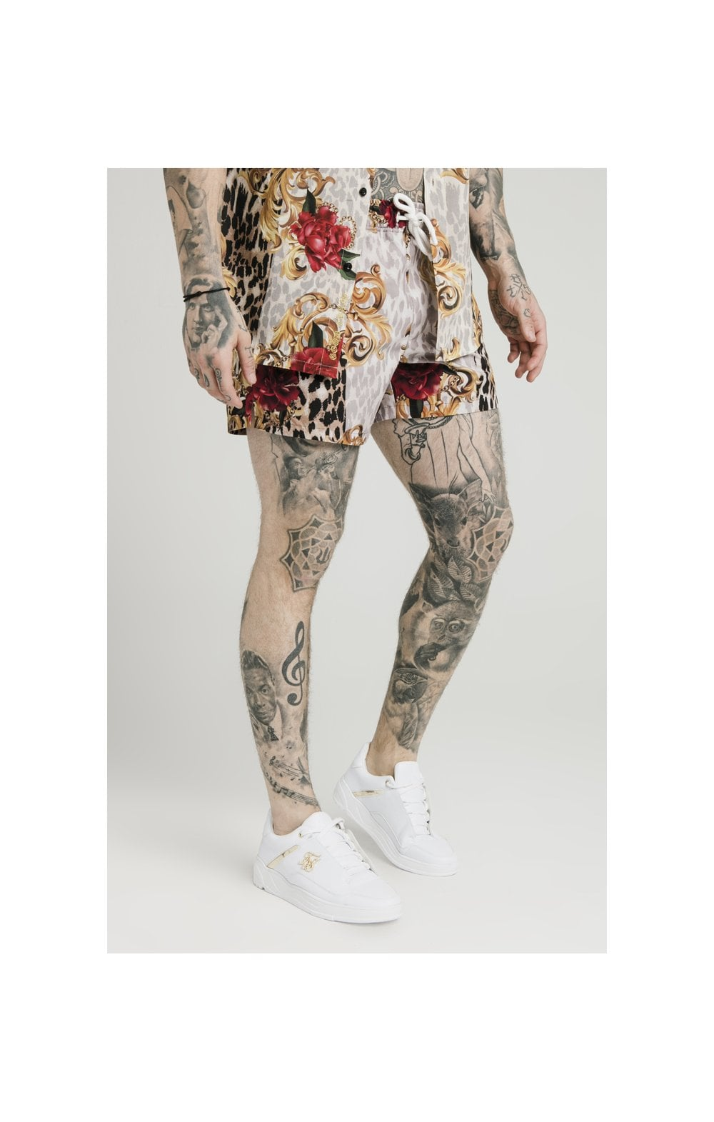 SikSilk x Dani Alves Swim Shorts - Floral Elegance