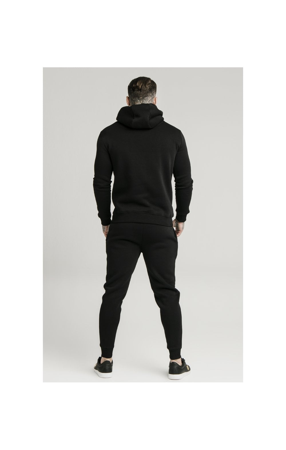 SikSilk Muscle Fit Overhead Hoodie - Black (4)
