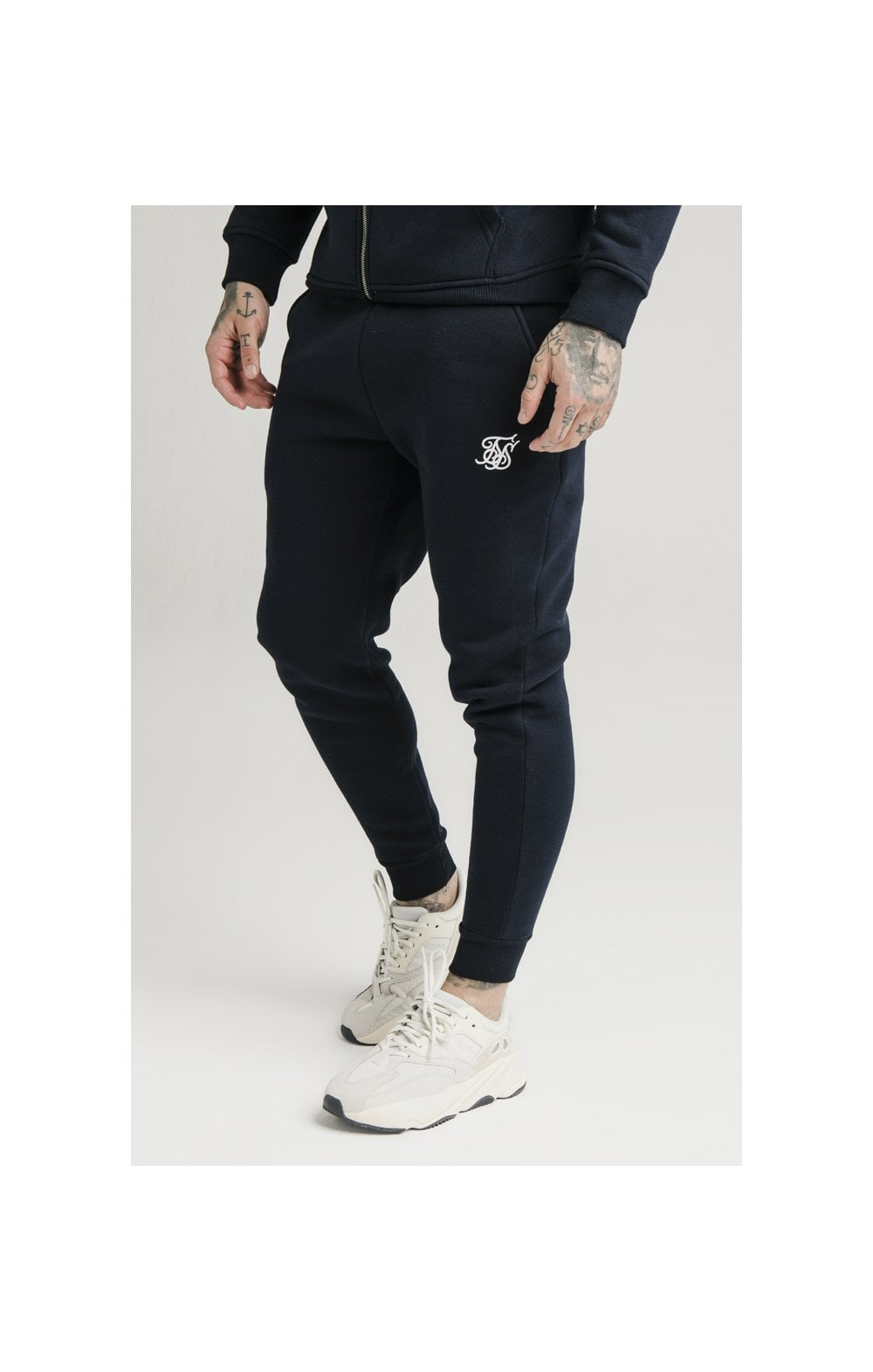 SikSilk Muscle Fit Jogger – Navy