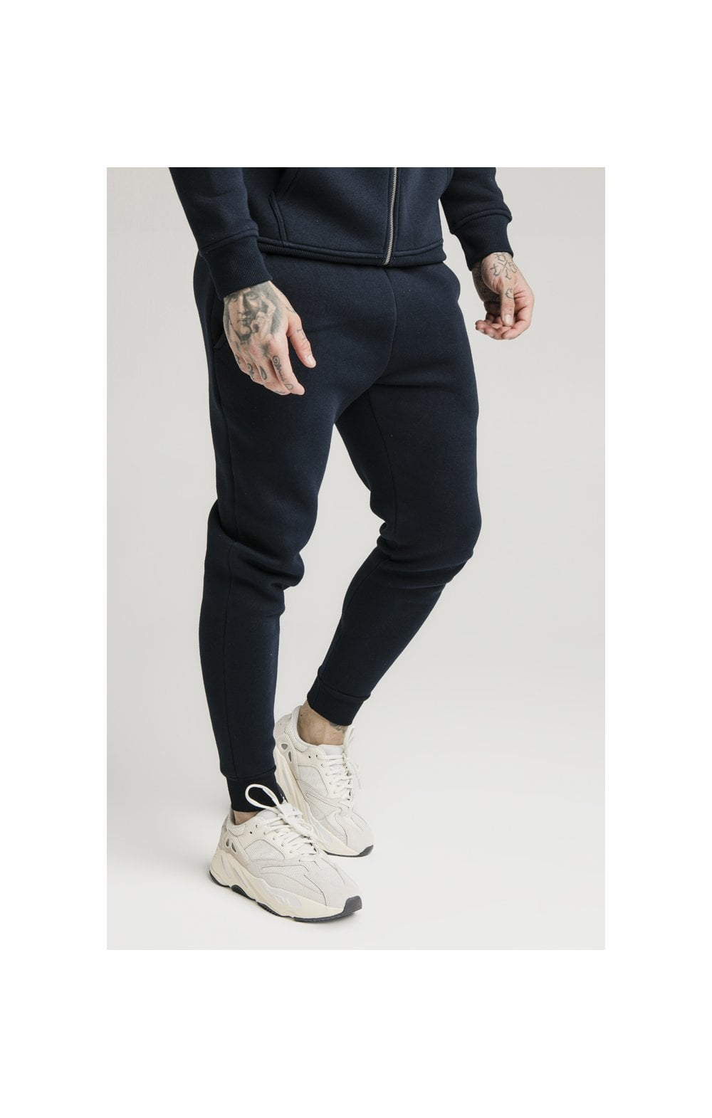 SikSilk Muscle Fit Jogger – Navy (2)