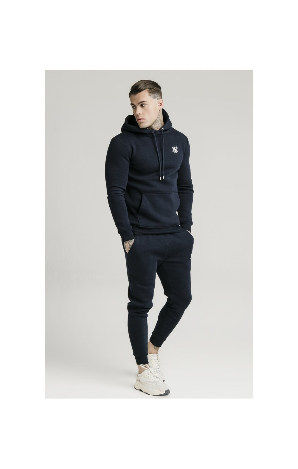 SikSilk Muscle Fit Jogger – Navy (4)