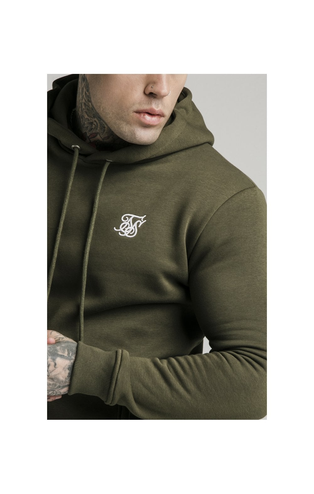 Load image into Gallery viewer, SikSilk Muscle Fit Overhead Hoodie - Khaki (2)