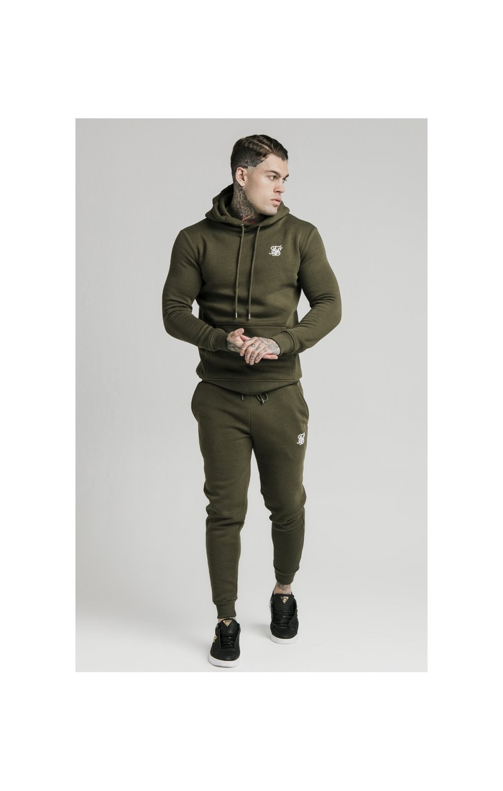 Load image into Gallery viewer, SikSilk Muscle Fit Overhead Hoodie - Khaki (3)