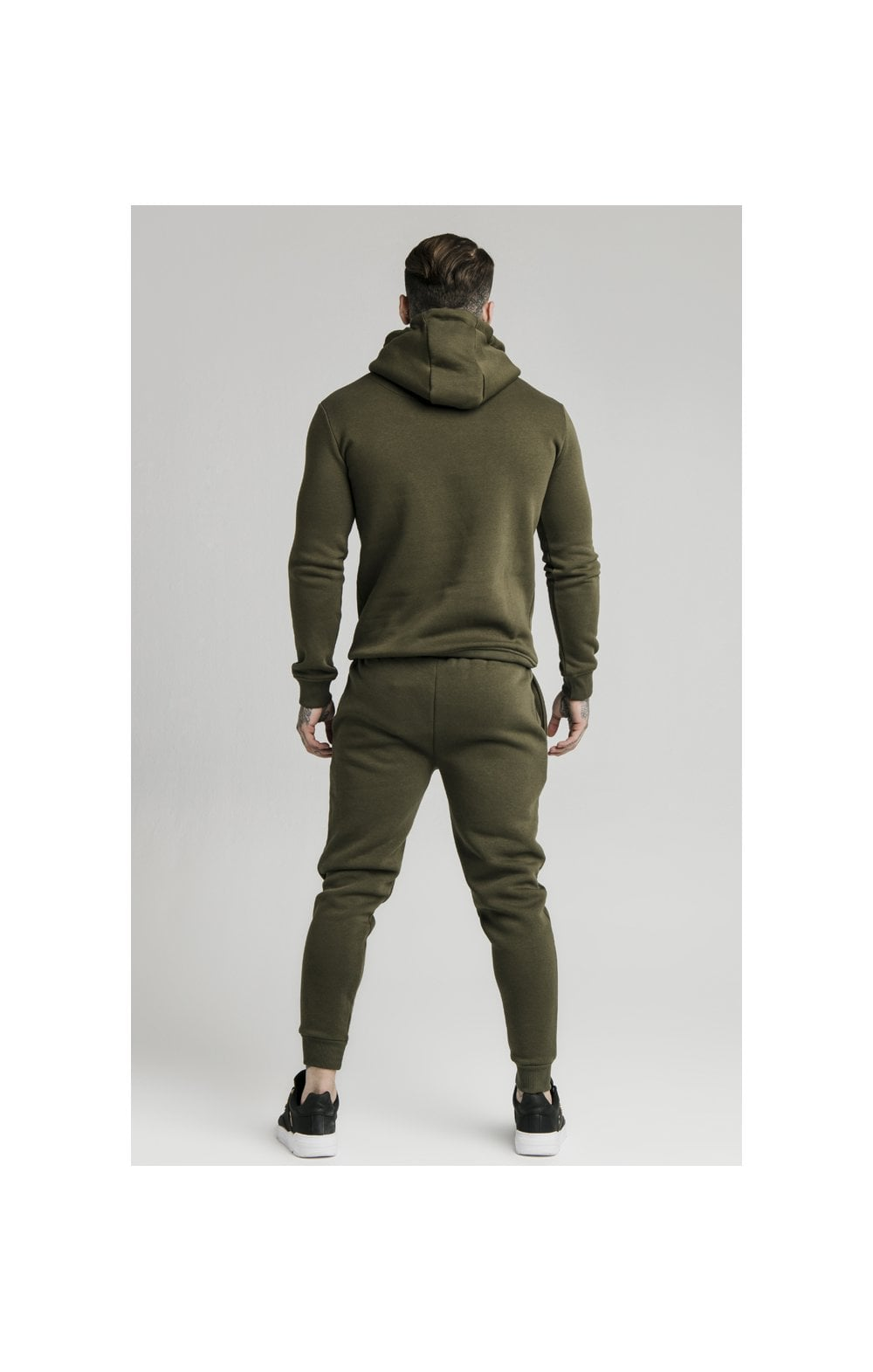 Load image into Gallery viewer, SikSilk Muscle Fit Overhead Hoodie - Khaki (5)