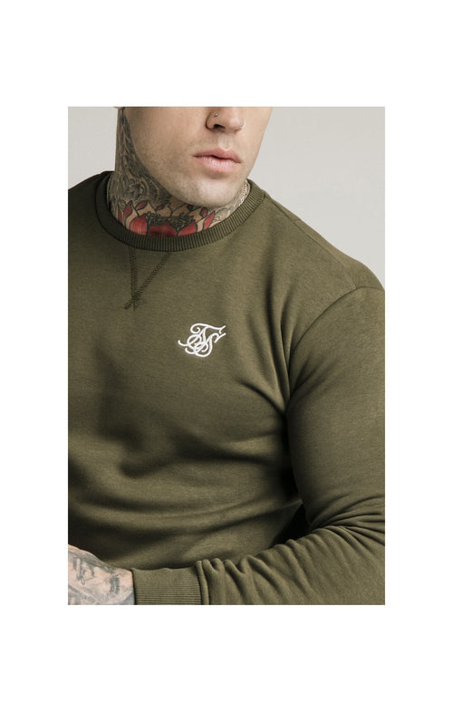 SikSilk Crew Sweat - Khaki