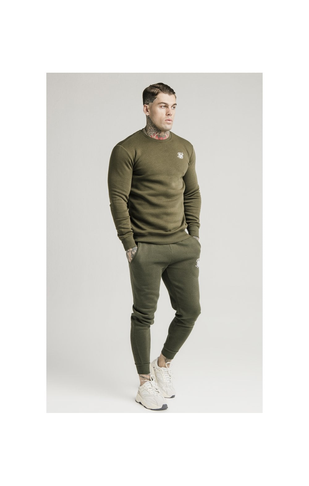 SikSilk Crew Sweat - Khaki (2)