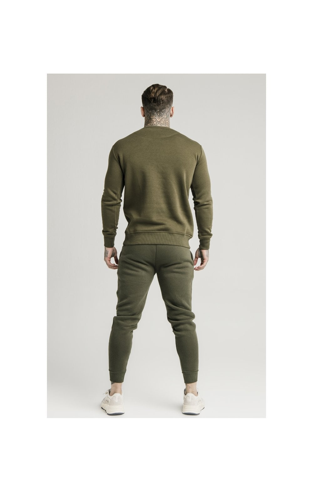 SikSilk Crew Sweat - Khaki (4)
