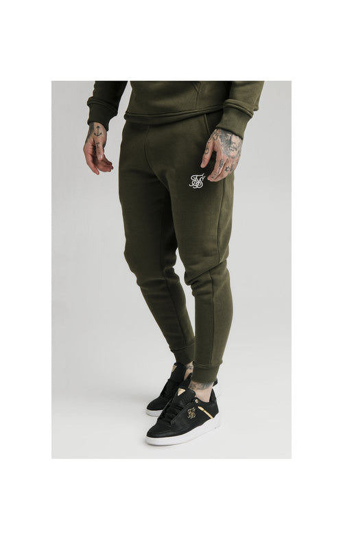 SikSilk Muscle Fit Jogger – Khaki