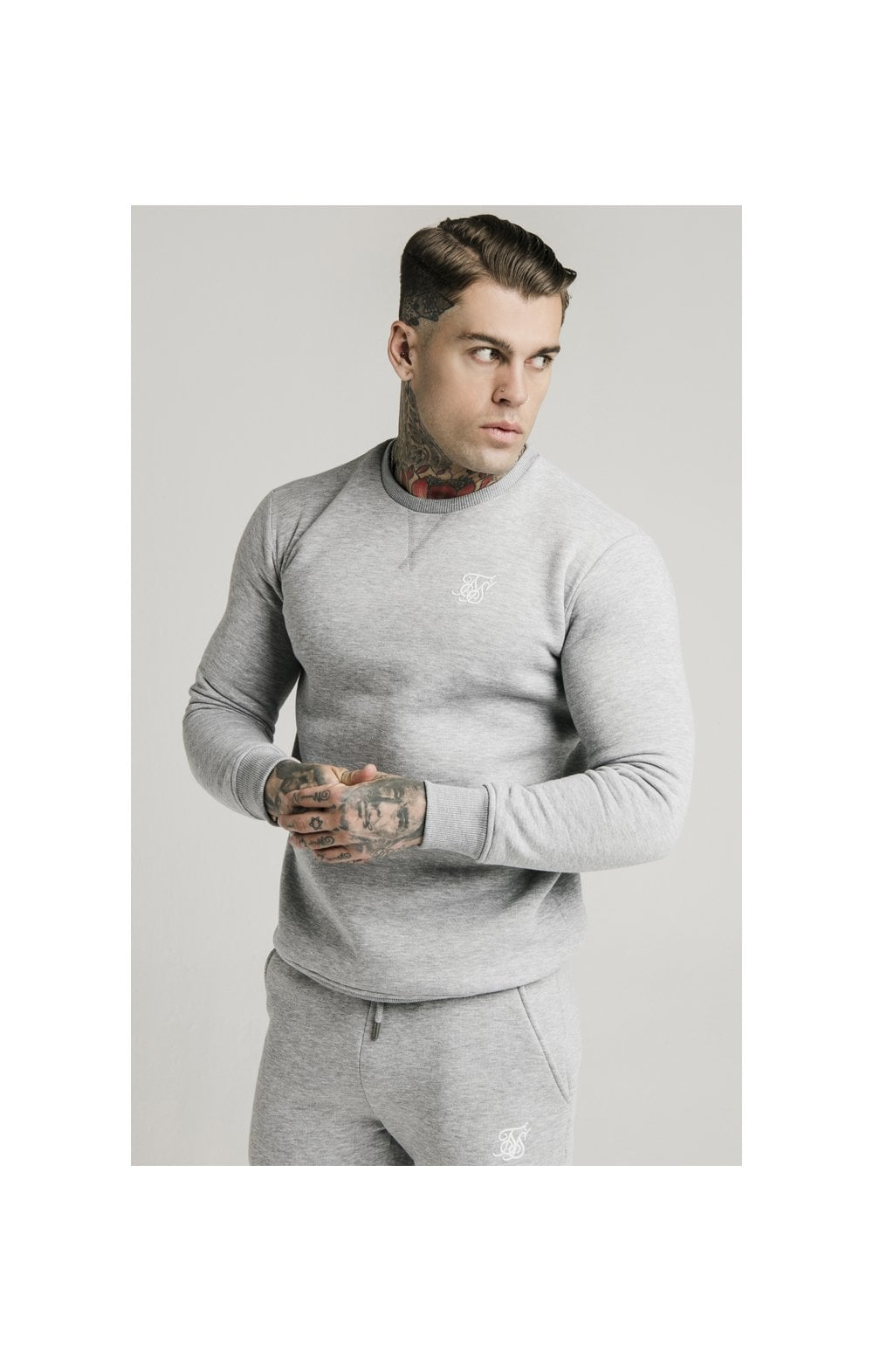 Load image into Gallery viewer, SikSilk Crew Sweat - Grey Marl (2)