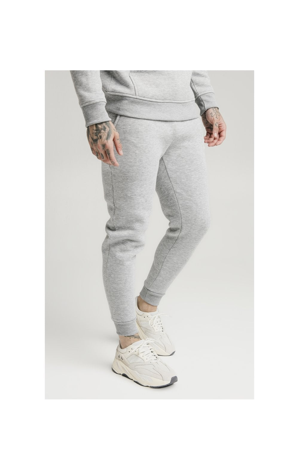 SikSilk Muscle Fit Jogger – Grey Marl