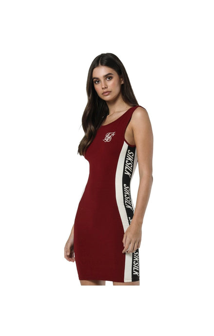 SikSilk Body Dress - Rhubarb