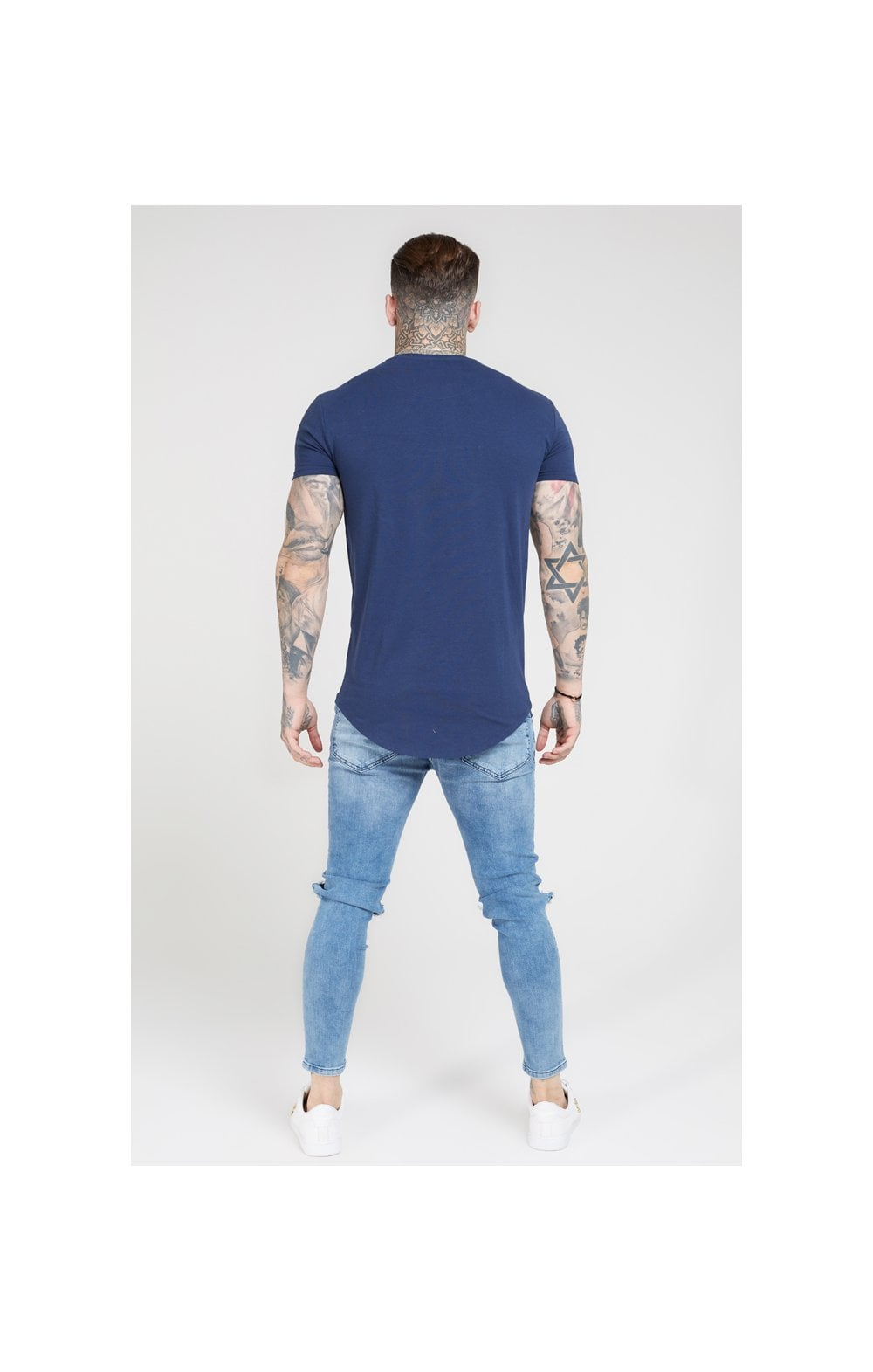 SikSilk S/S Core Gym Tee – Navy (4)