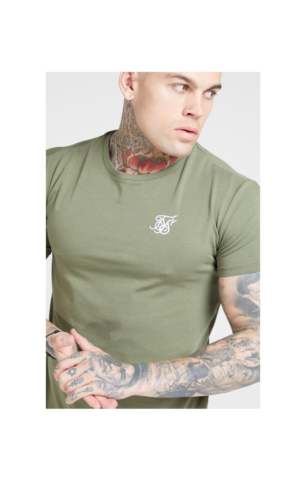 SikSilk S/S Core Gym Tee – Khaki (1)