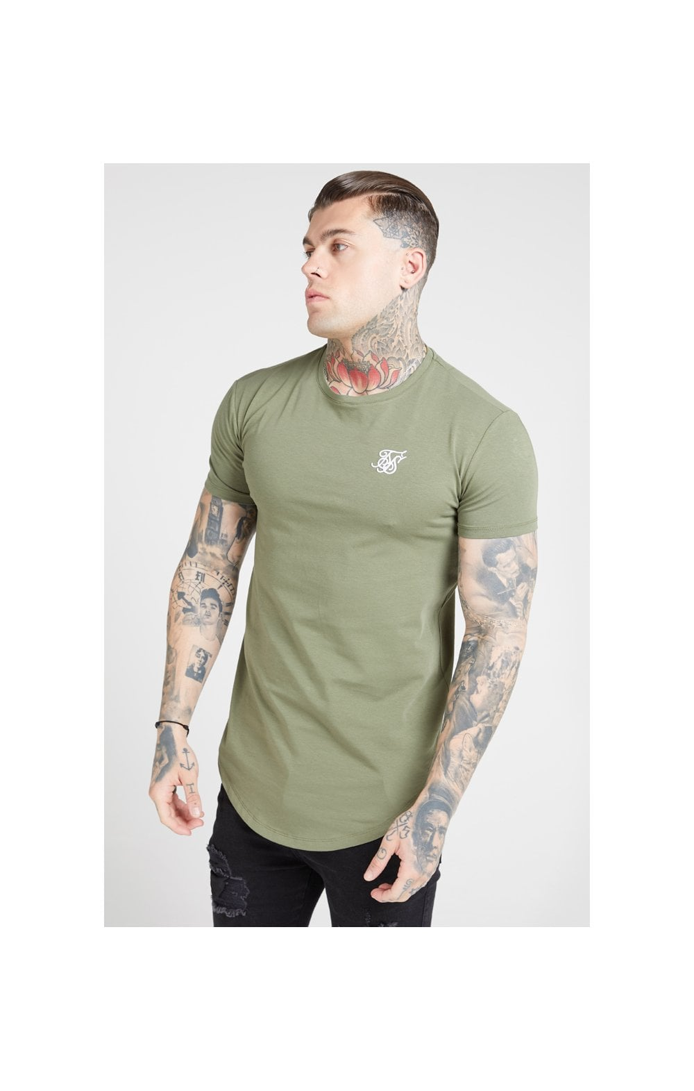 SikSilk S/S Core Gym Tee – Khaki