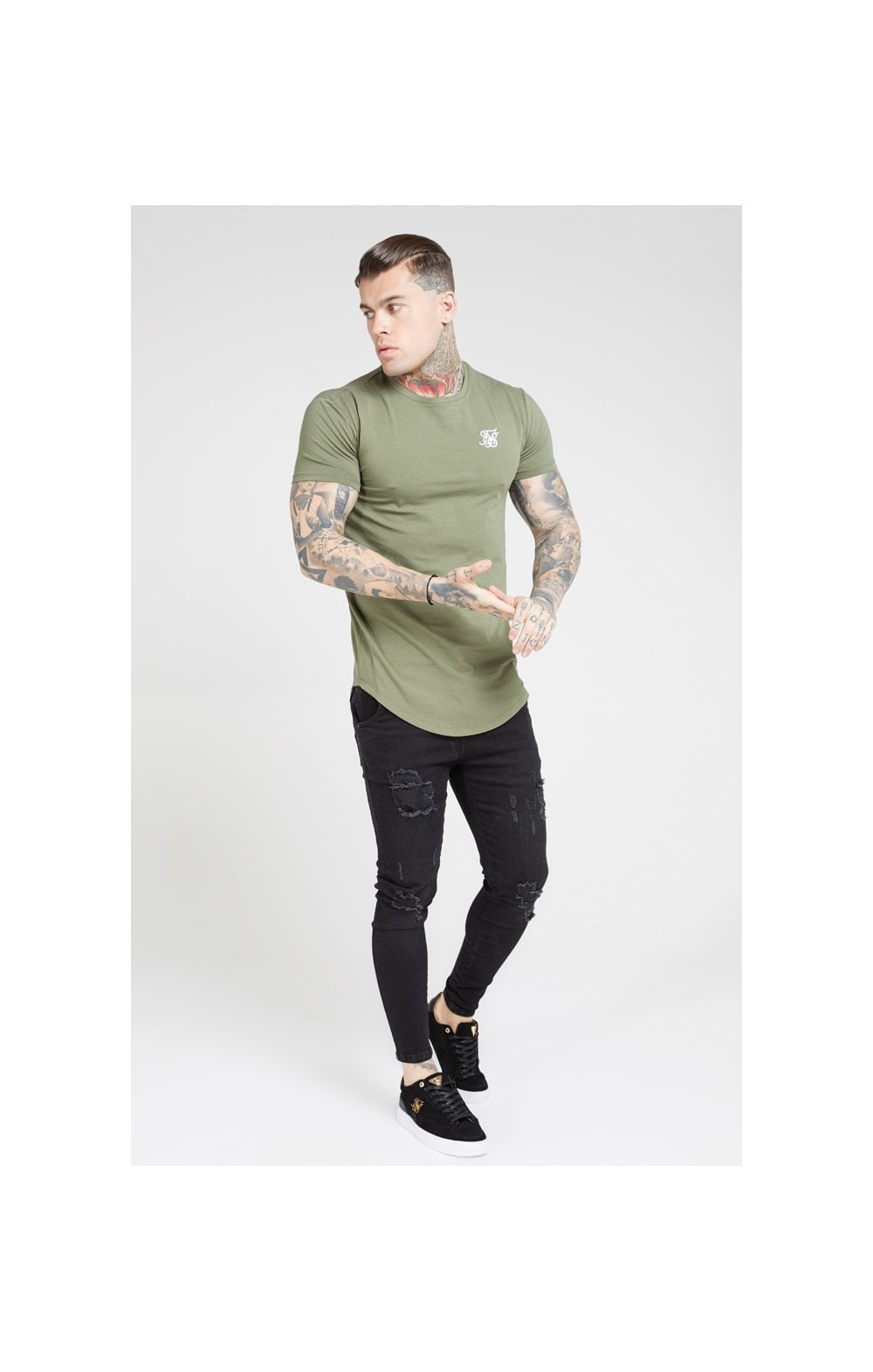 SikSilk S/S Core Gym Tee – Khaki (2)