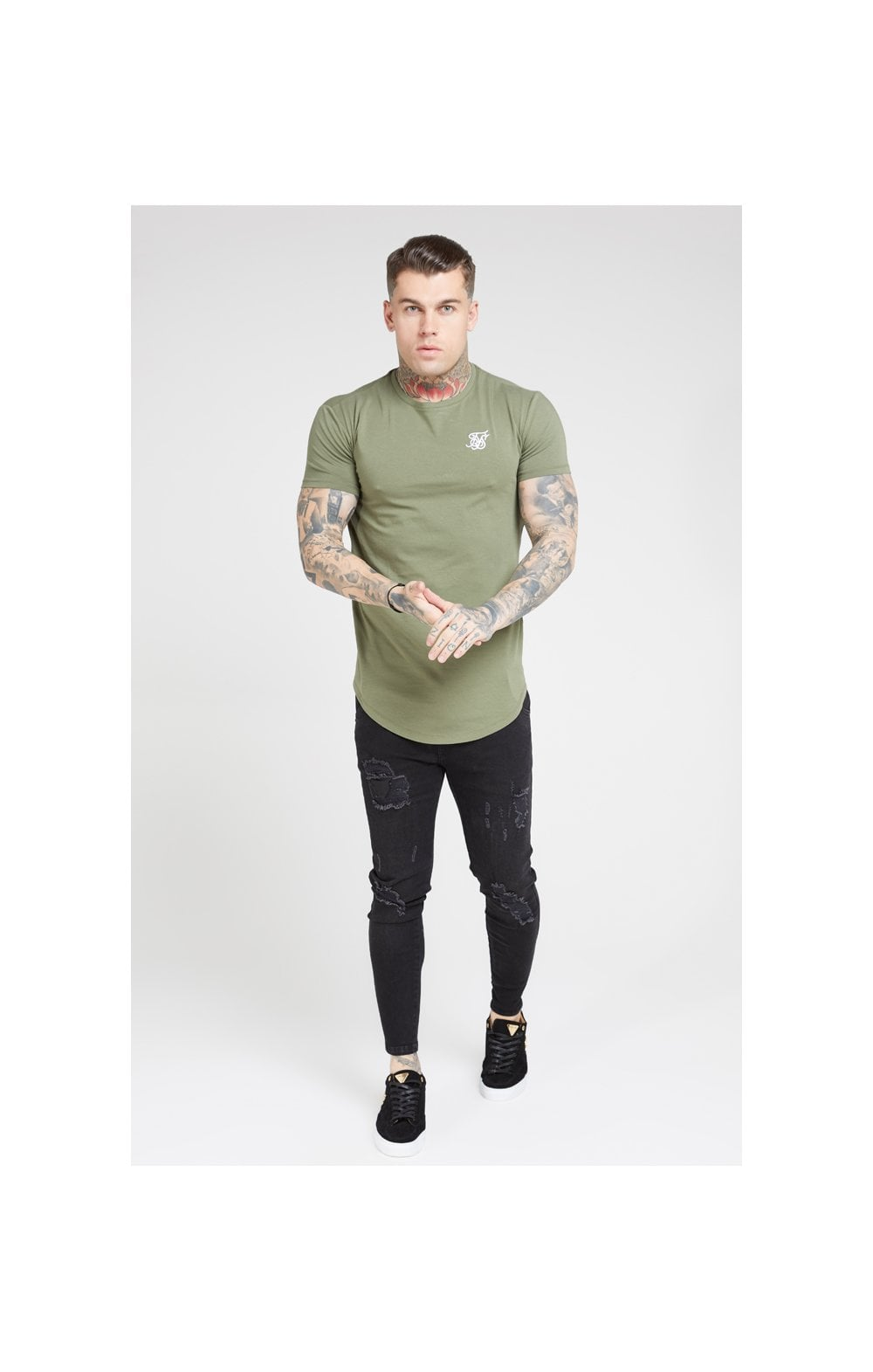 SikSilk S/S Core Gym Tee – Khaki (3)
