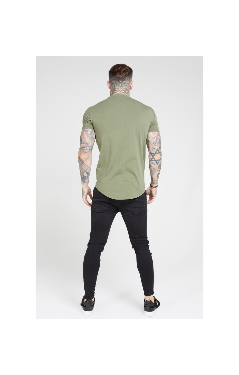 SikSilk S/S Core Gym Tee – Khaki (4)