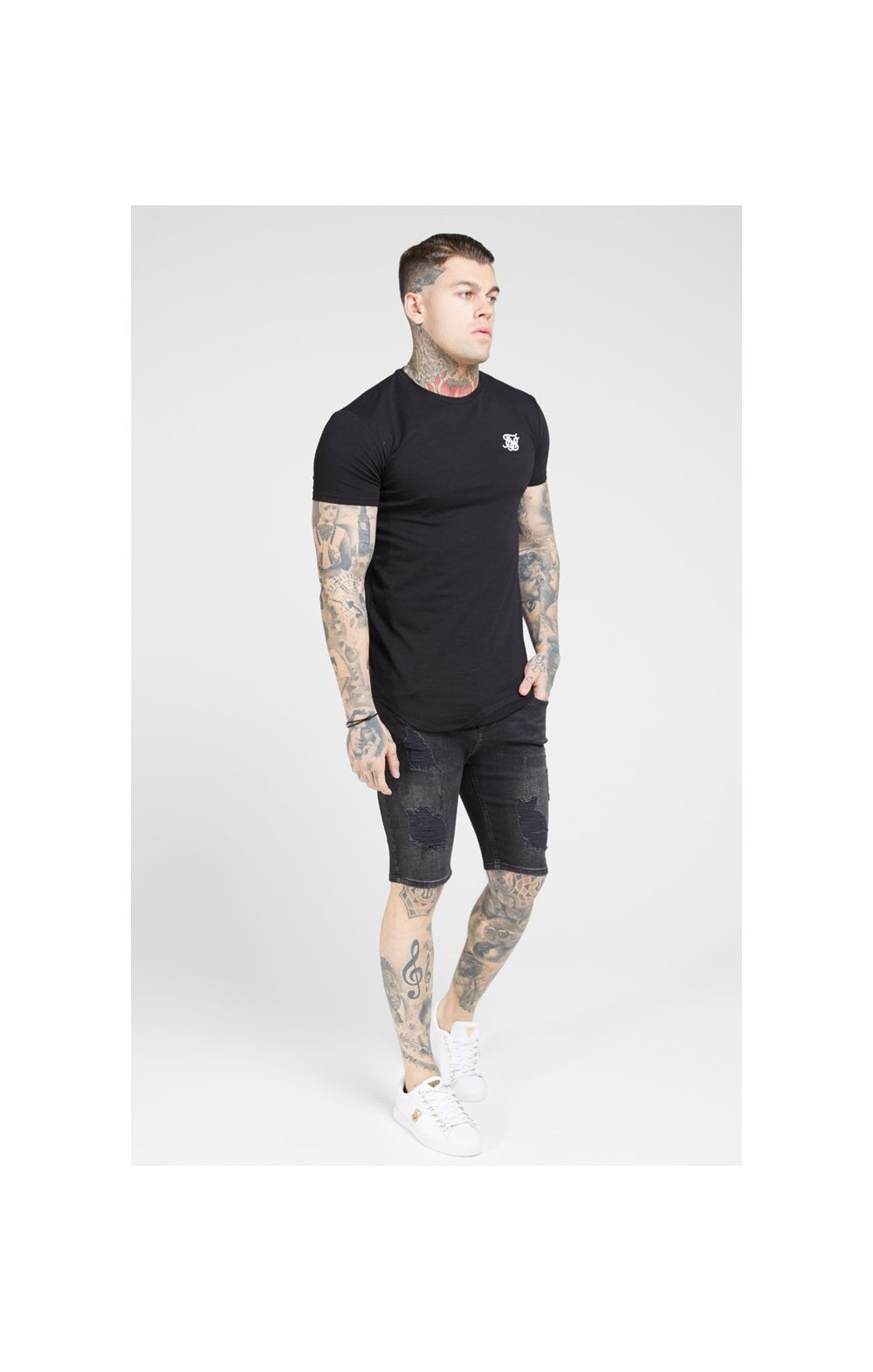 SikSilk S/S Core Gym Tee – Jet Black (3)