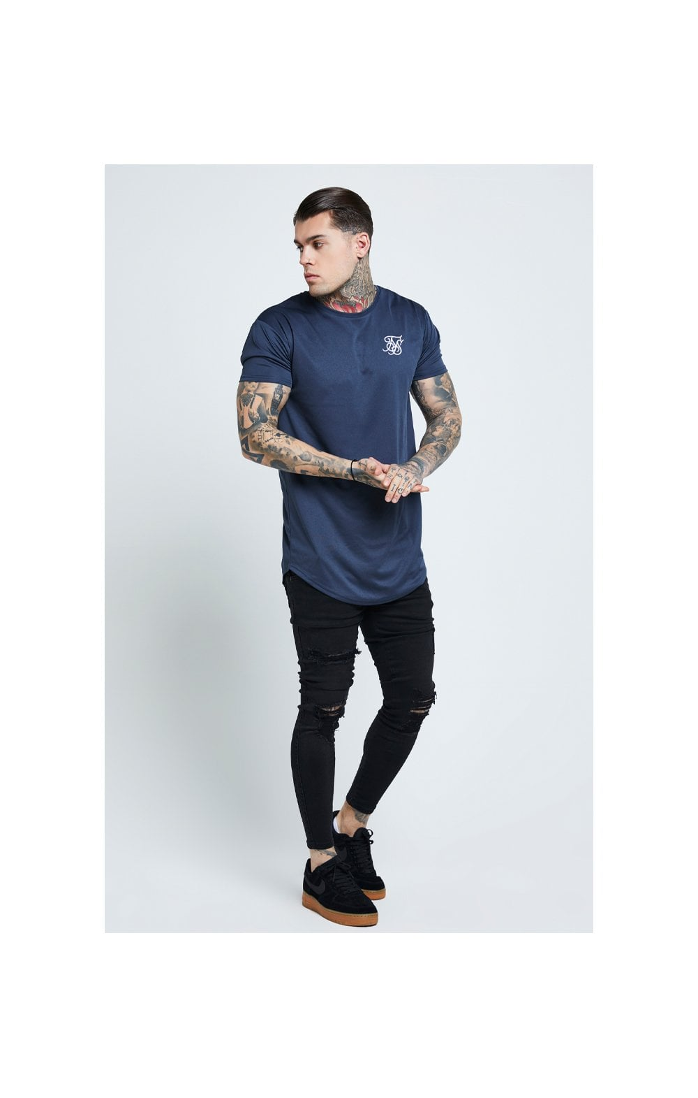 Load image into Gallery viewer, SikSilk Distressed Skinny Jeans – Black (4)