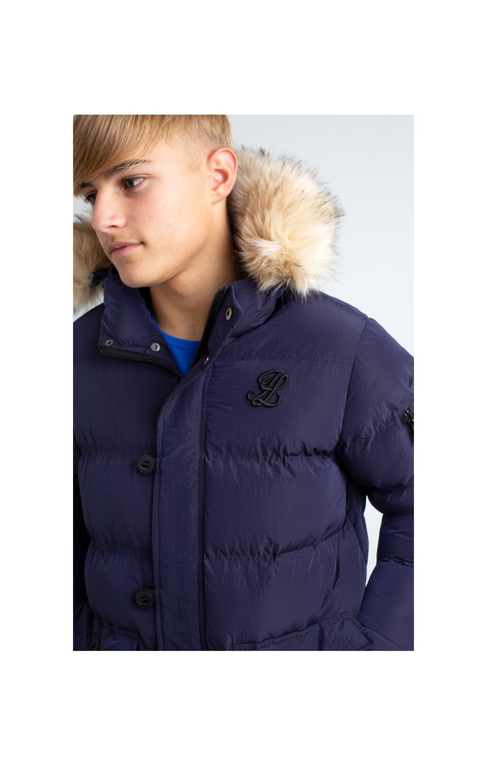 Load image into Gallery viewer, Illusive London Puff Parka – Navy