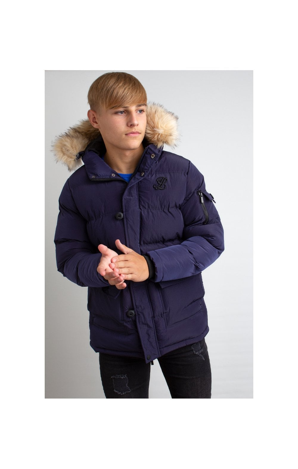 Load image into Gallery viewer, Illusive London Puff Parka – Navy (1)