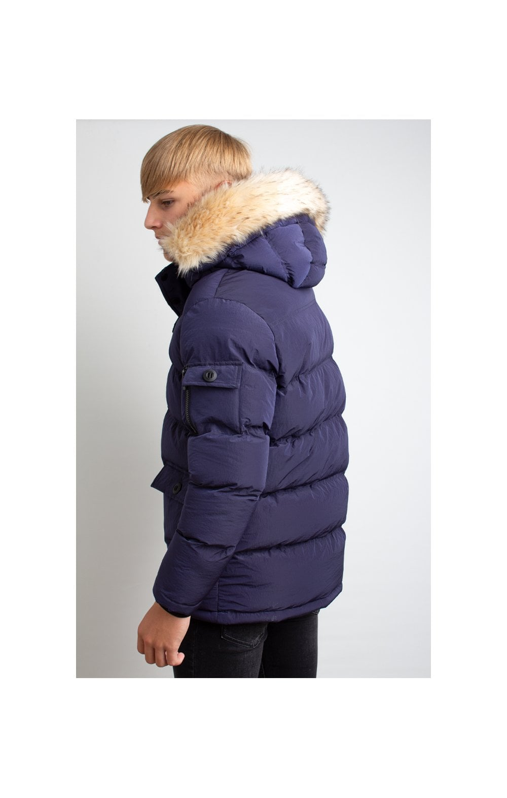 Load image into Gallery viewer, Illusive London Puff Parka – Navy (2)