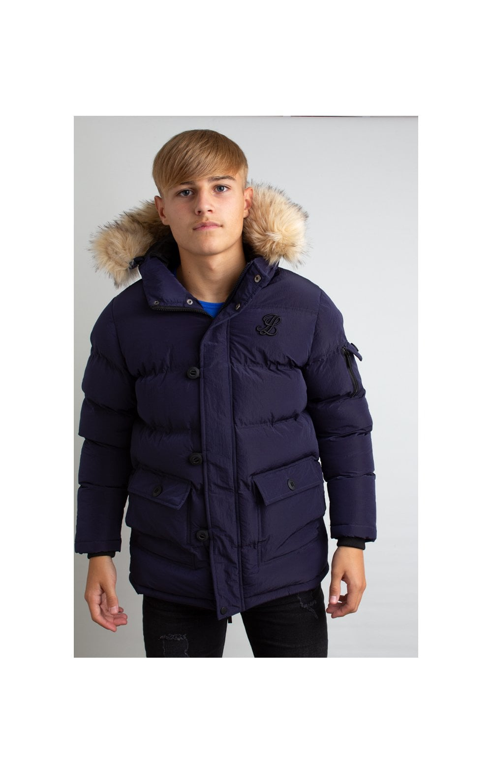 Load image into Gallery viewer, Illusive London Puff Parka – Navy (3)