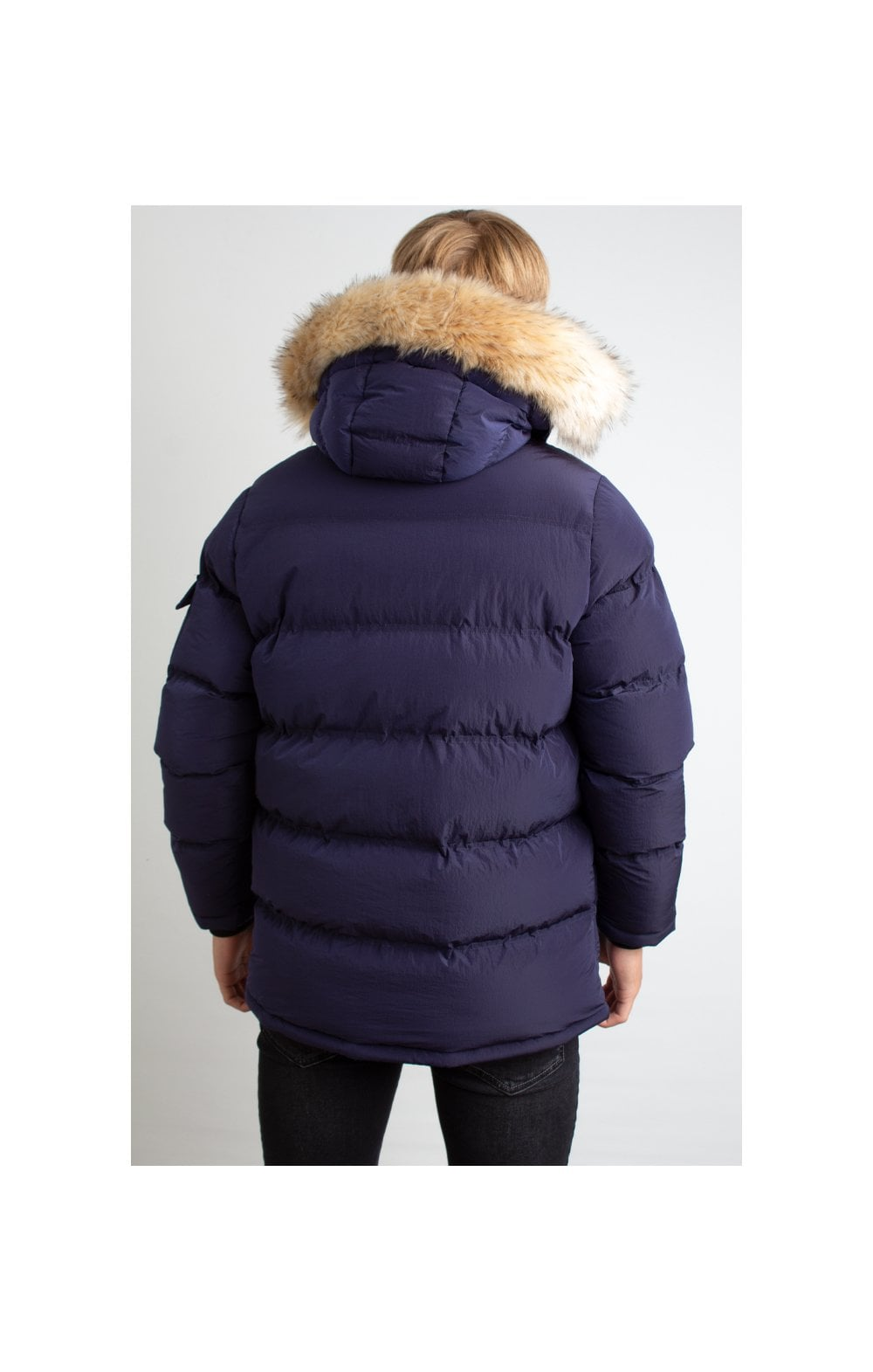 Load image into Gallery viewer, Illusive London Puff Parka – Navy (4)