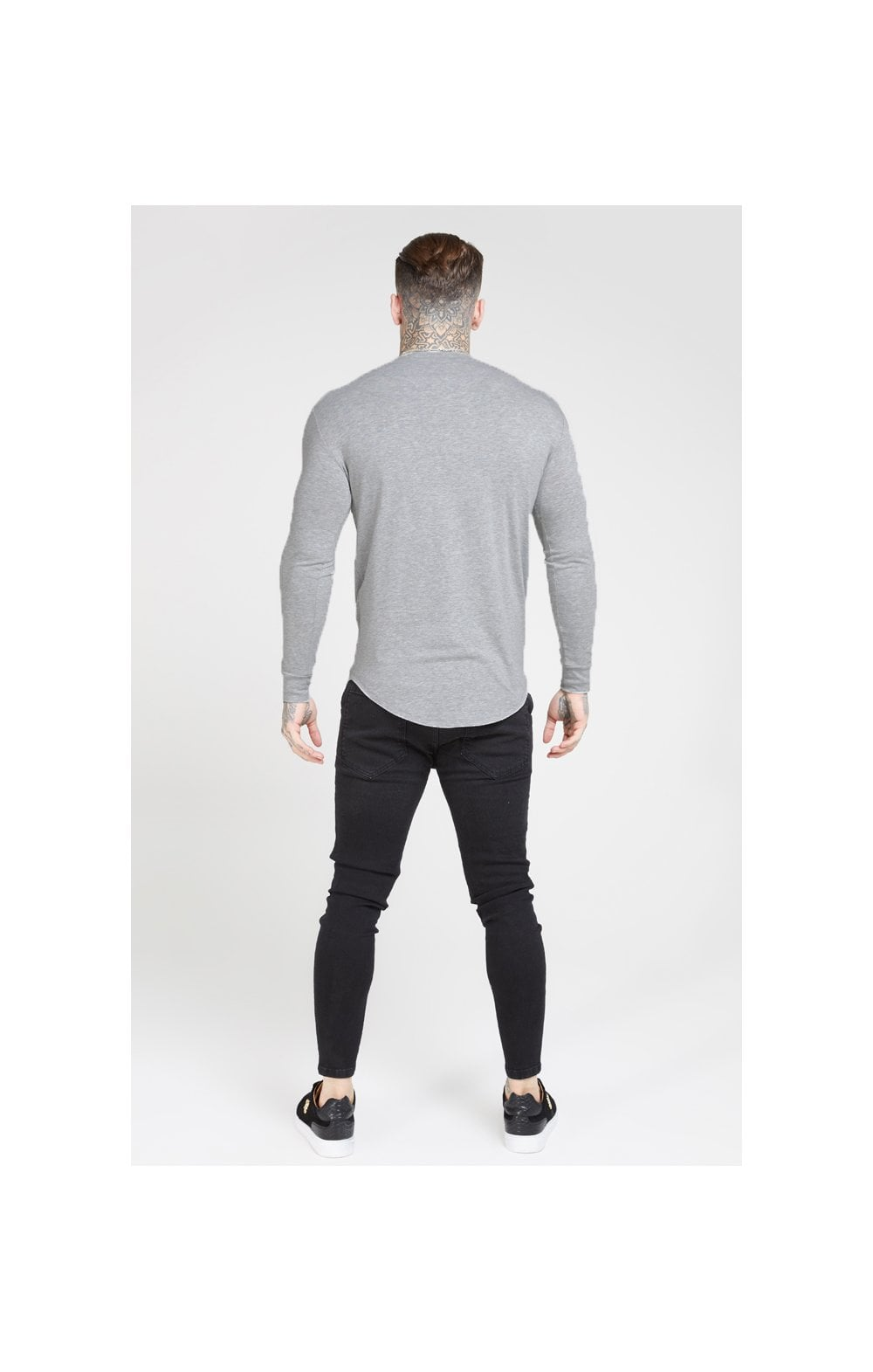 Load image into Gallery viewer, SikSilk L/S Core Gym Tee – Grey Marl (3)