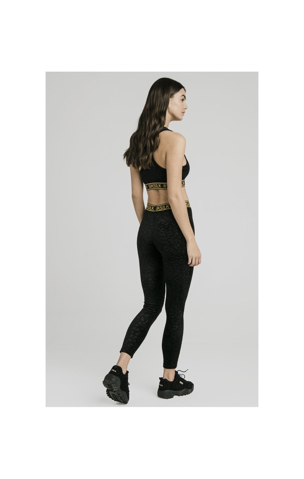 SikSilk Debossed Velour Bralette – Black (5)