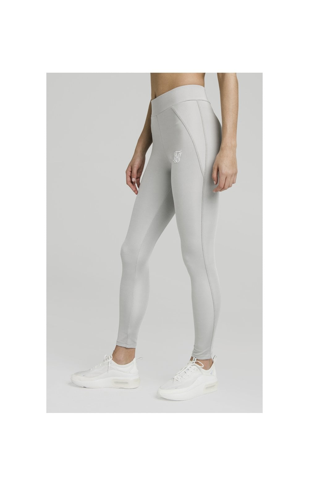 SikSilk Disco Leggings – Silver