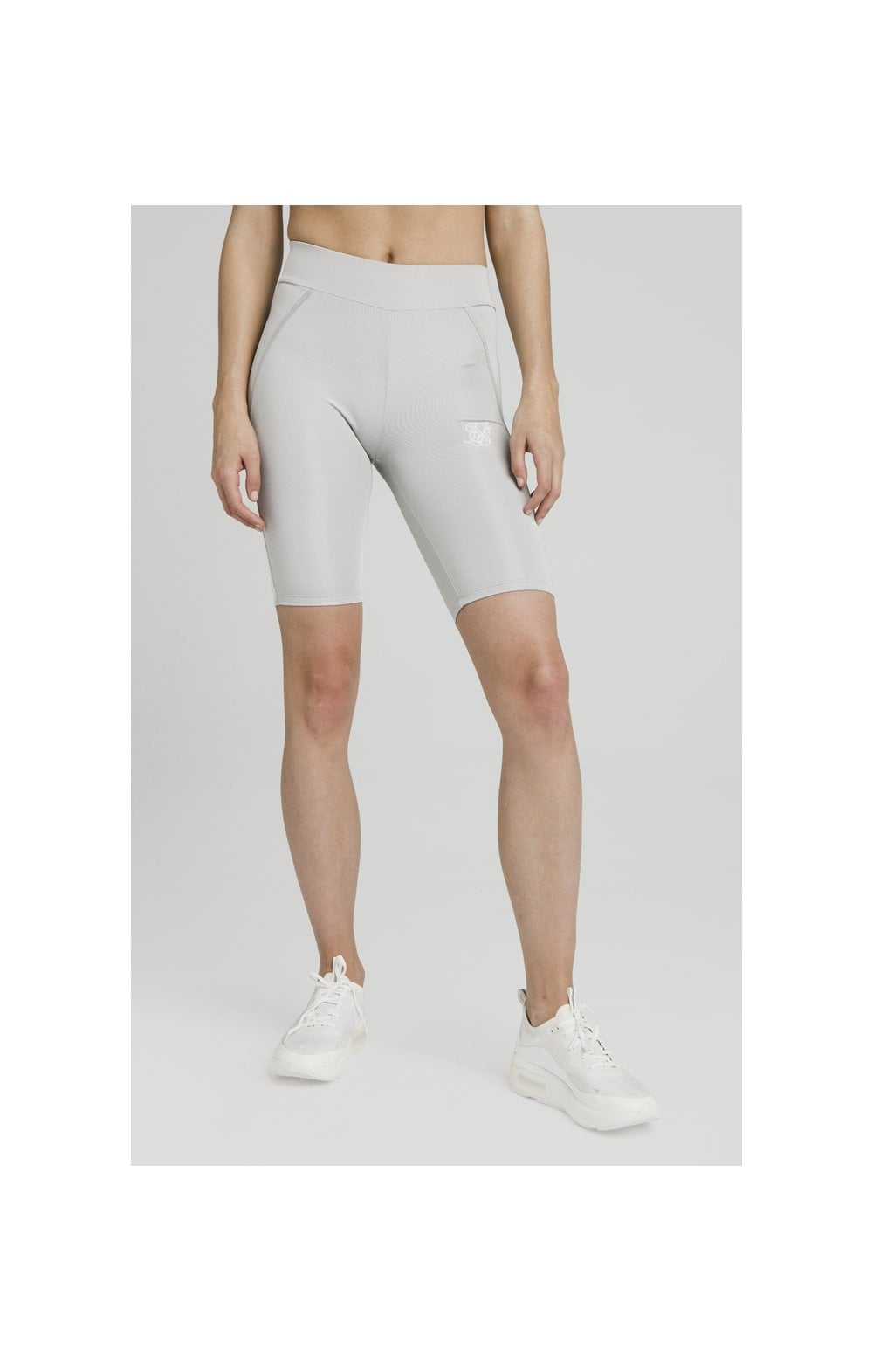 SikSilk Disco Cycle Shorts – Silver