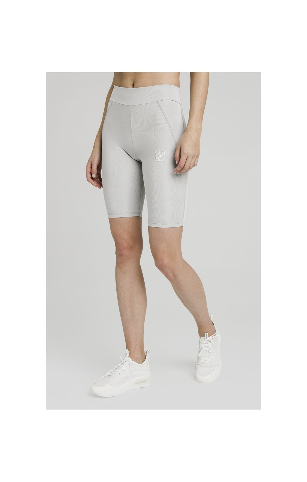 SikSilk Disco Cycle Shorts – Silver (1)