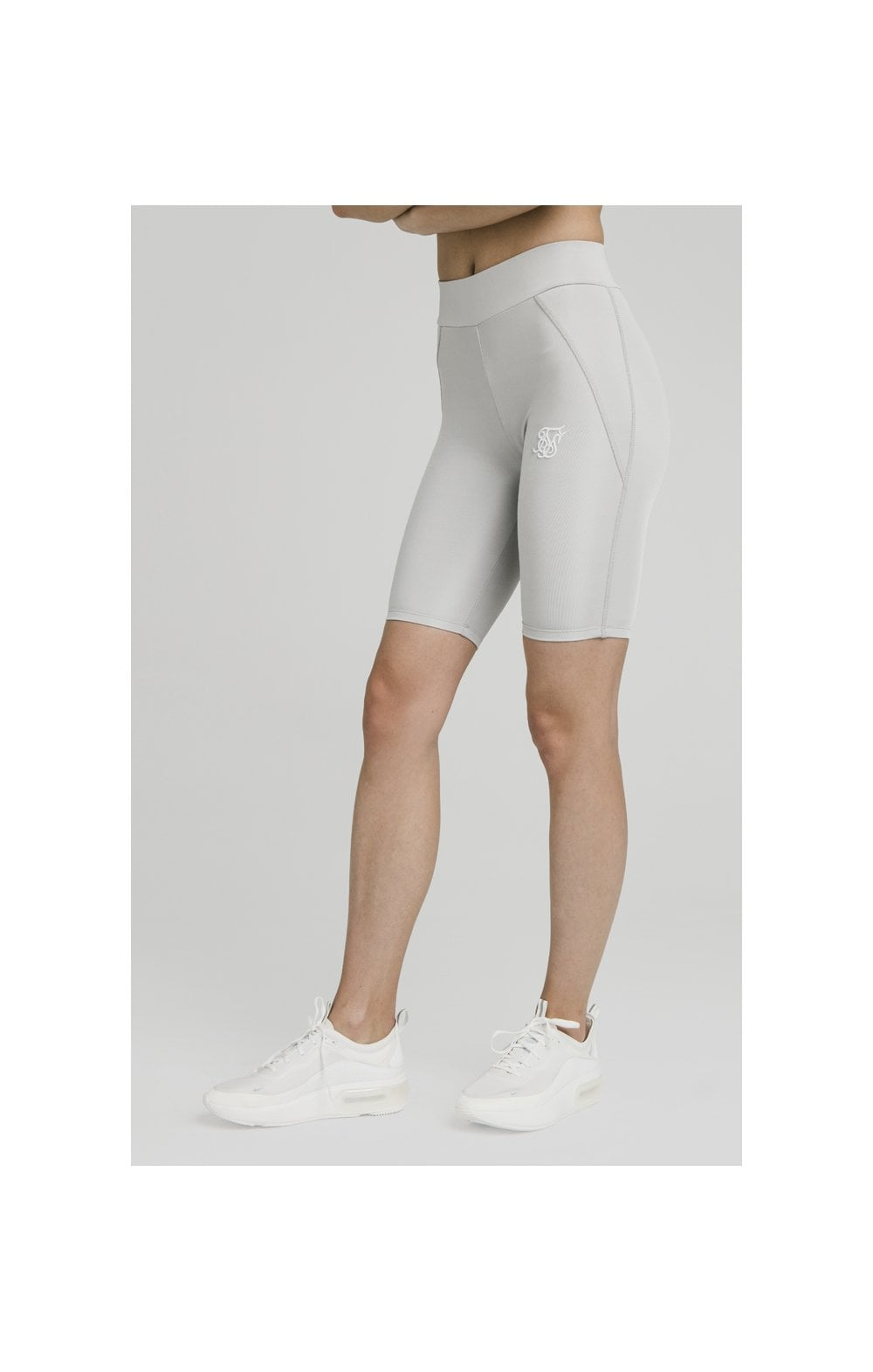SikSilk Disco Cycle Shorts – Silver (4)
