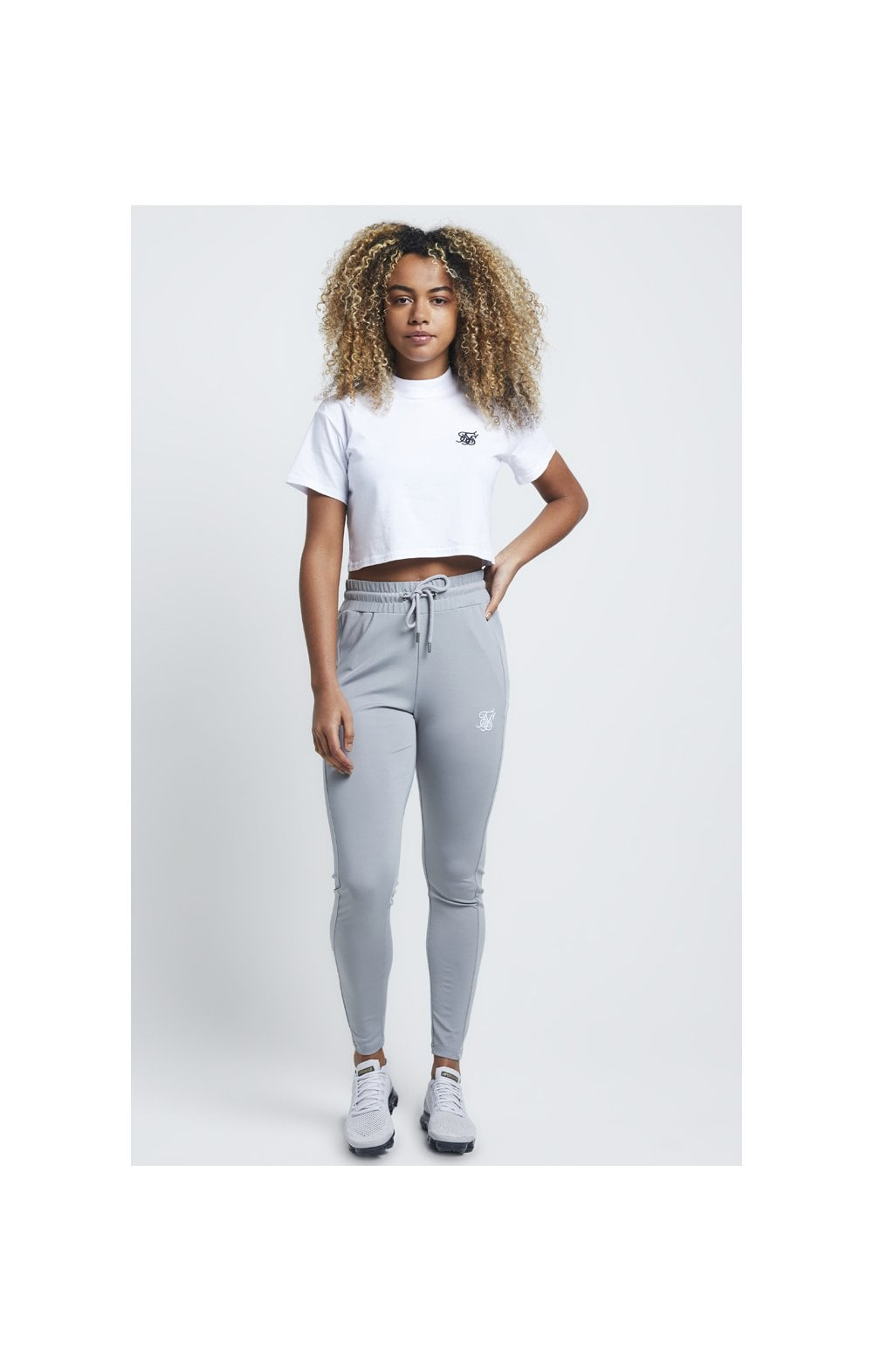 SikSilk Retro Box Fit Crop Tee – Optic White (3)