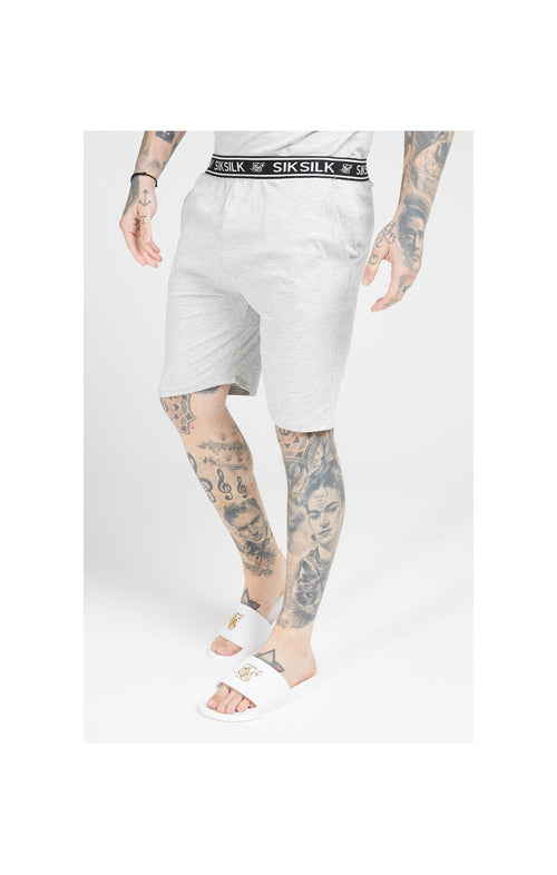 SikSilk Loose Fit Jersey Shorts - Grey Marl