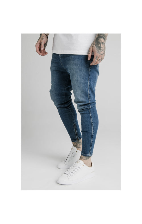 SikSilk Drop Crotch Denims – Midstone Blue
