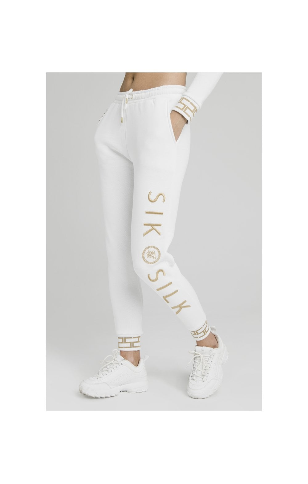 Load image into Gallery viewer, SikSilk Luxury Joggers - White