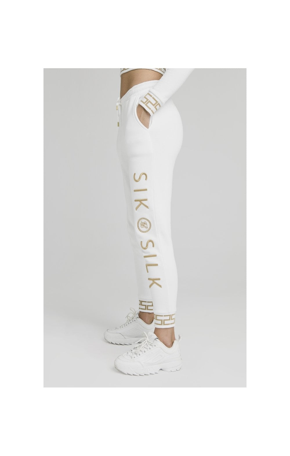 Load image into Gallery viewer, SikSilk Luxury Joggers - White (1)
