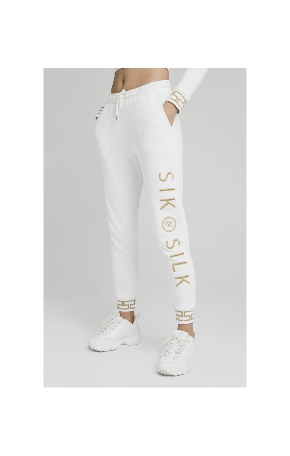 Load image into Gallery viewer, SikSilk Luxury Joggers - White (4)