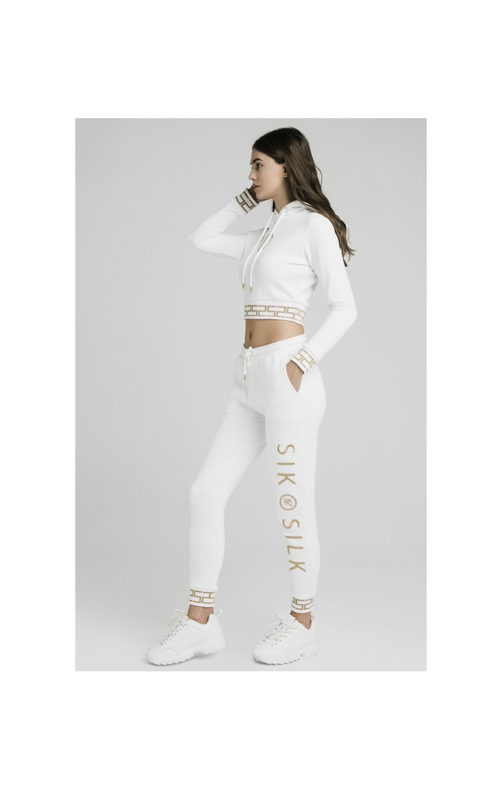 Load image into Gallery viewer, SikSilk Luxury Joggers - White (2)