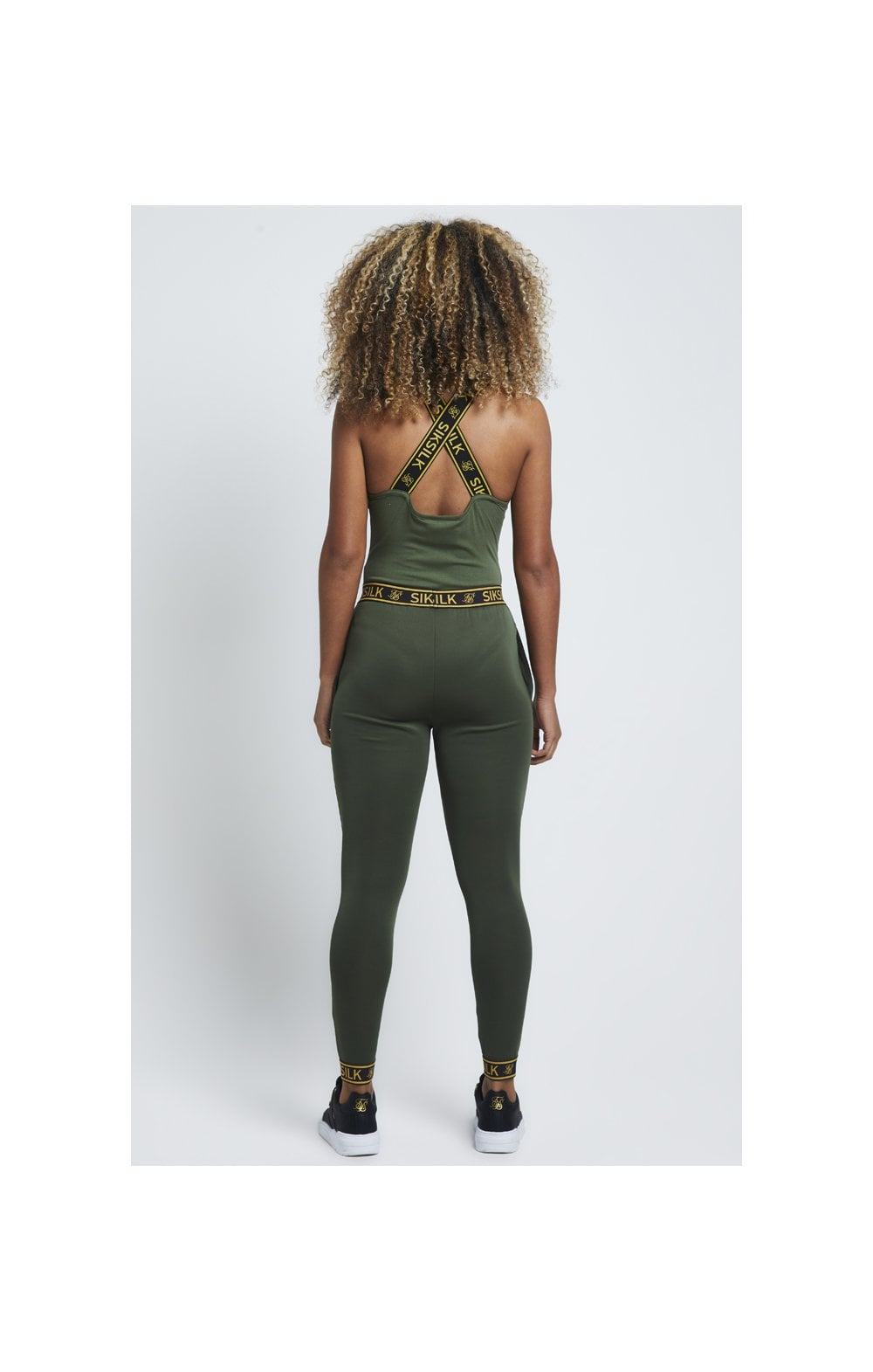SikSilk Tape Strap Bodysuit – Bronze Green (4)