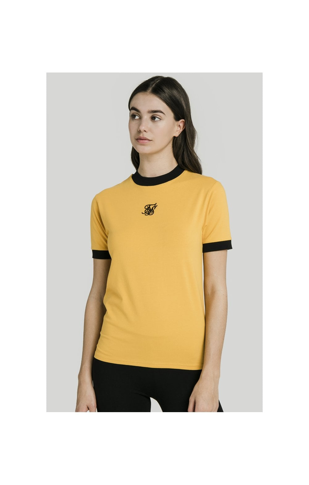 SikSilk Ringer Tee – Golden Sun