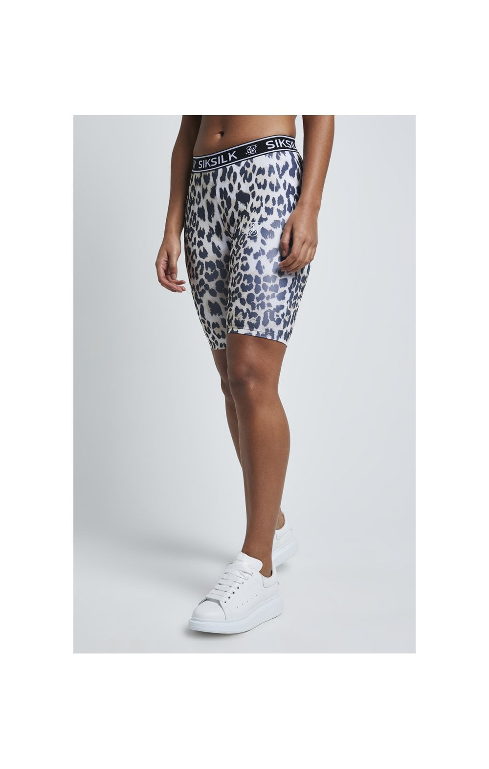 SikSilk Leopard Print Cycle Shorts - Leopard