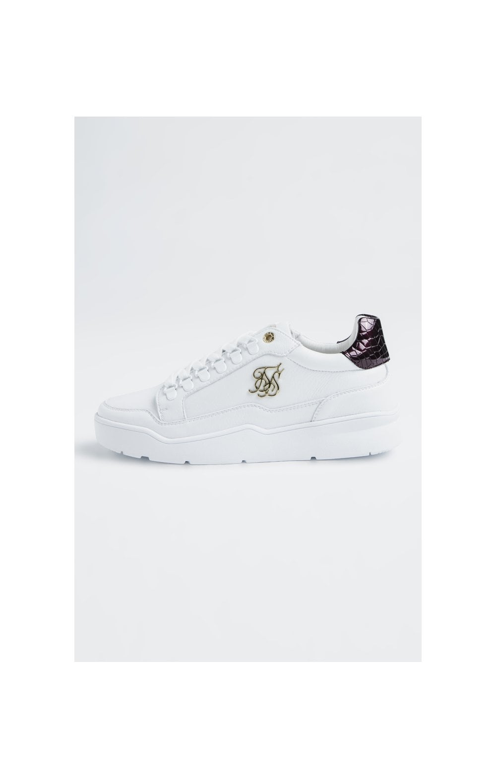 SikSilk D-Ring Pursuit – White & Burgundy