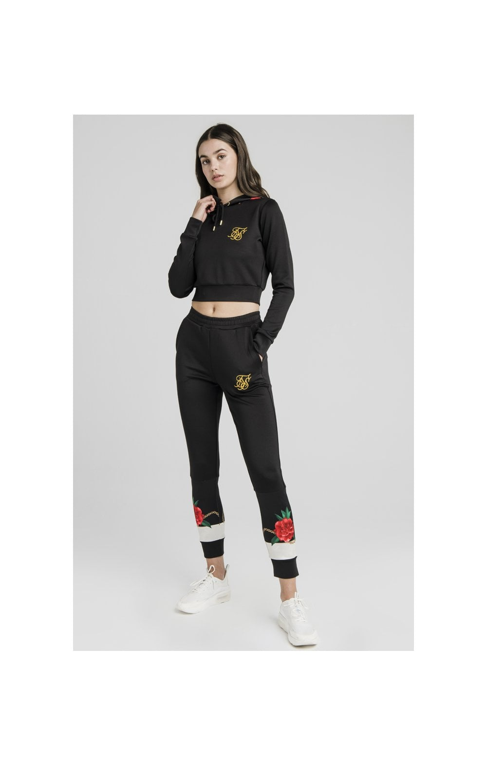 SikSilk Majestic Cropped Track Top – Black (3)