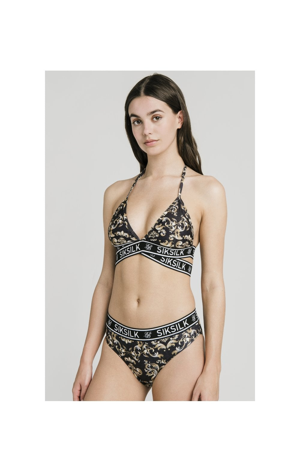 Load image into Gallery viewer, SikSilk Wrap Bikini Top – Venetian (2)
